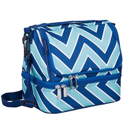 - Wildkin Two Compartment Lunch Bag, Chevron Blue
