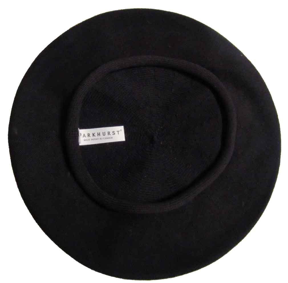 Parkhurst 11 1/2 Inch Cotton Beret Black