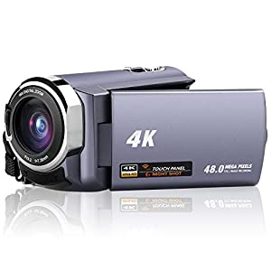 "Camcorder Full HD 1080p Webcam 24.0MP 2.7"" LCD Rotatable Screen 16x Digital Zoom Record Camera For Video Pause Function"