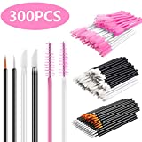 INFILILA Disposable Makeup Applicators Kit-100pcs Lip Applicators,100pcs Mascara Wands,100pcs Eyeliner Brushes 300PCS Makeup Brushes 6 Styles