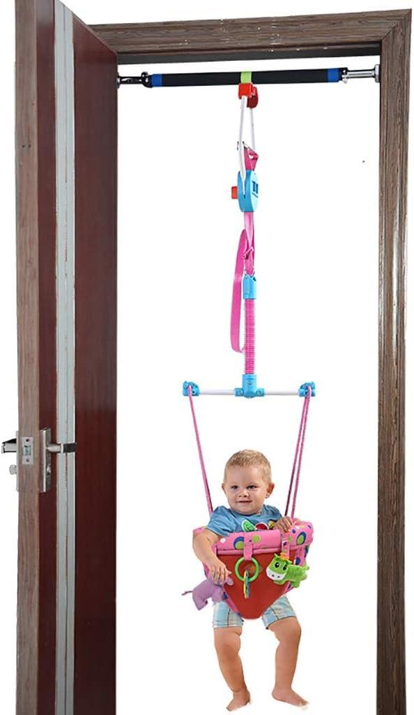 ベビージャンパー 幼児キッズ子供のおもちゃ、ドアジャンパーとクロスバー、ピンクのためのクロスバー、赤ちゃんの戸口バウンスジャンプウォークエクセ屋内屋外で赤ちゃん戸口ジャンパー