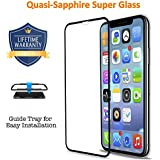 Vanford [Quasi-Sapphire Glass] IPhone XS / X 3D Screen Protector [Edge To Edge Coverage] Premium Tempered Glass Screen Protectors for Apple IPhone XS / X with [Guide Tray] Bubble-Free [Case Friendly]