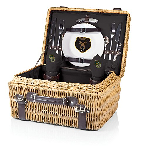 NCAA Baylor Bears Champion Picnic Basket with Deluxe Service for Two, Black