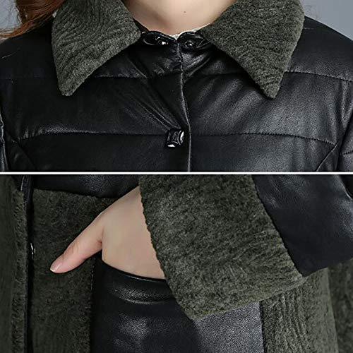 Mujer Talla De Abrigada Abrigo Chaqueta Mei Piel Gray 1pcs Grande Para wqx0IRxC