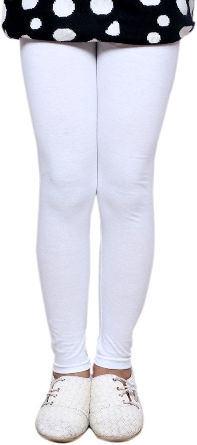 Indistar Big Girls Cotton Full Ankle Length Solid Leggings -Multiple Colors-15-16 Years Pack of 6