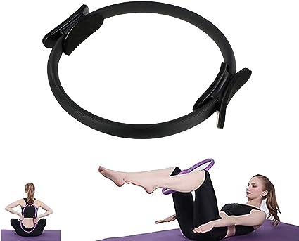 Black Pilates Ring Fitness Exerciser Yoga Circle Body Trainer 15 inch