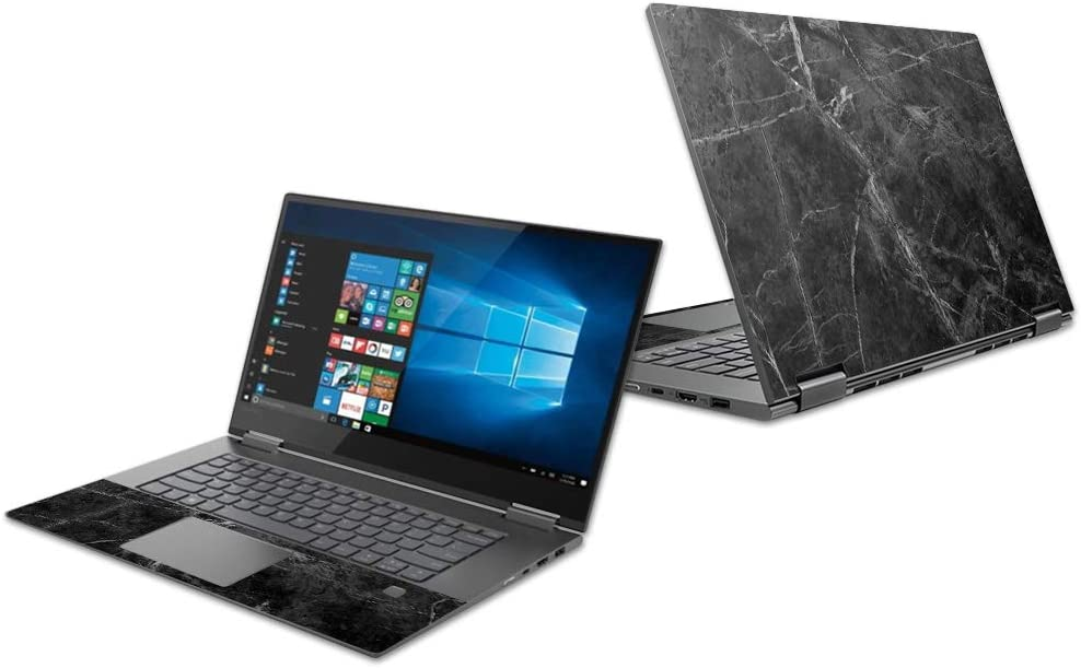 """Mightyskins Skin Compatible with Lenovo Yoga 730 13"""" (2018) - Black Marble 