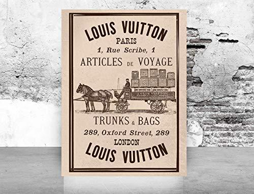 Glam Fashion Wall ArtPoster Print - Vintage Louis Vuitton - Printed on Fine Art Paper- size: 12