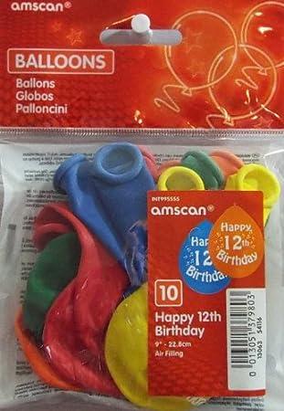 12TH BIRTHDAY BALLOONS Amazoncouk Toys Games