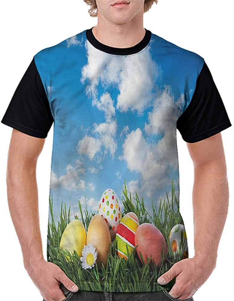 Vintage T-Shirt,Eggs on Grass Open Skyline Fashion Personality Customization