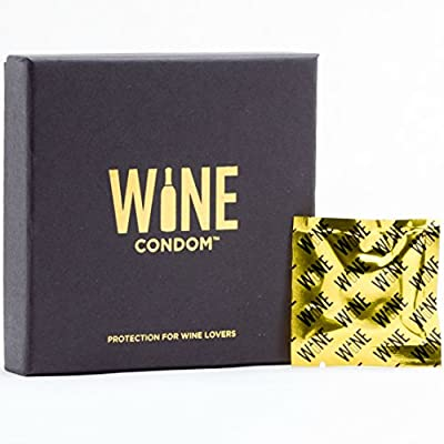 Wine Condoms | Wine & Beverage Bottle Stopper | Air-Tight Grip | Prolong Beverage Freshness | FUNctional Novelty Gift | Food Grade 100% Rubber Latex | Tuxedo Black | Set of 6