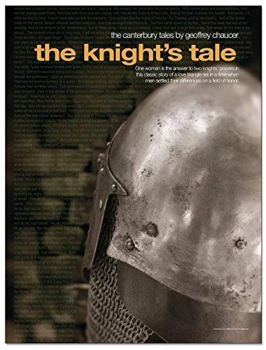 Poster Knights Tale - The Knight's Tale. Geoffrey Chaucer, The Canterbury Tales Movie Style Poster