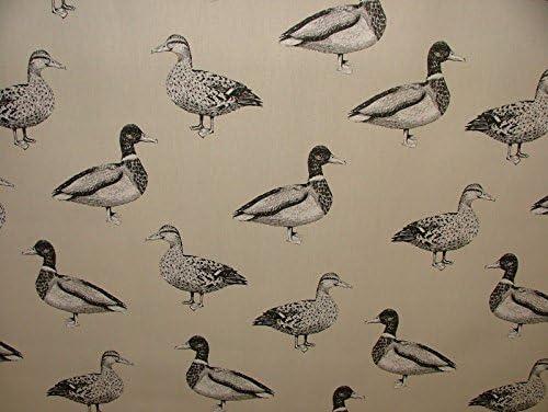 A4 muestra prestigioso Textiles pato azul cortina de algodón para ...