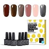 Lagunamoon UV/LED Gel Nail Polish Set - Classic Elegant Colors Soak Off Nail Polish 6pcs 8ml Each