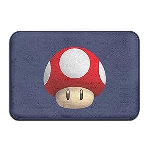 New Super Mario Bros–logo impresión Bienvenido Mat Felpudo al aire libre Funny