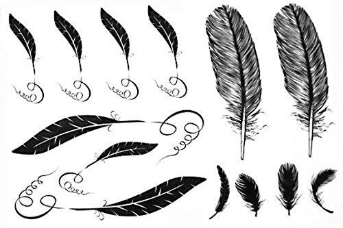 GRASHINE Hohe Qualität und realistischen heißer Verkauf Männer und Frauen wasserdichte Tattoo Aufkleber Feder Fake Tattoo