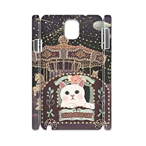 LASHAP Phone Case Of pink cute cat,Hard Case !Slim and Light weight and won't fade, Scratch proof and Water proof.Compatible with All Carriers Allows access to all buttons and ports. For Samsung Galaxy Note 3 N9000