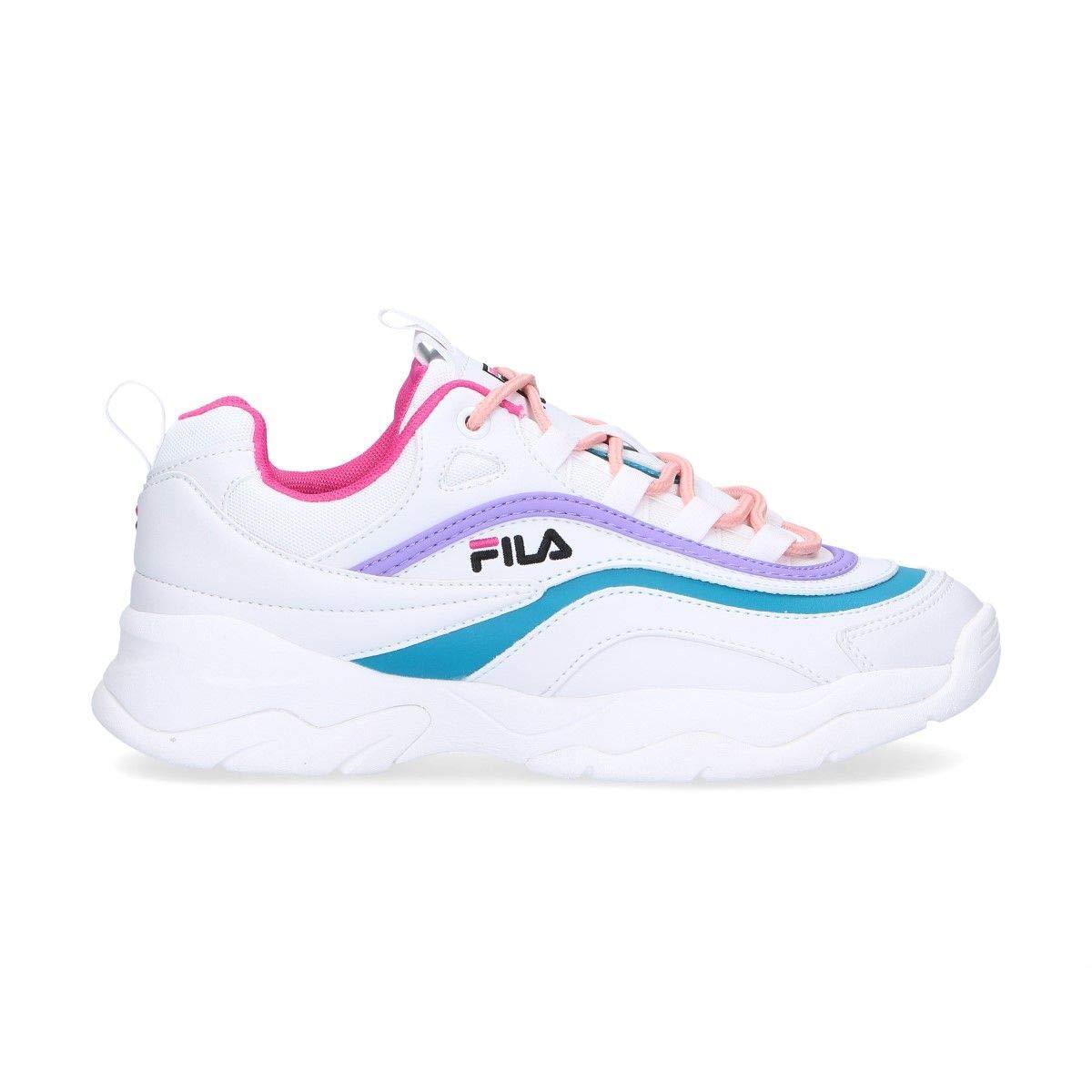 Women's White Polyurethane Sneakers