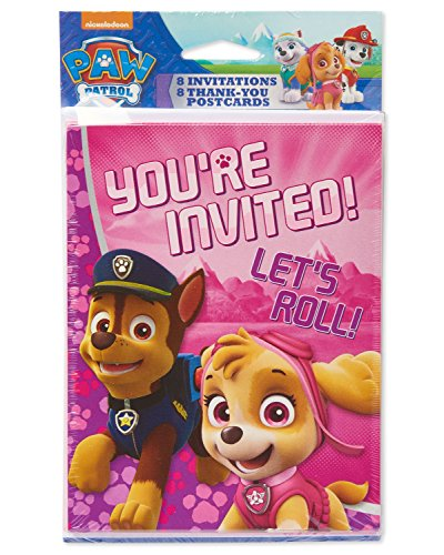 American Greetings PAW Patrol Pink Invite and Thank You Combo Pack for $<!--$1.95-->