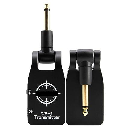 Wildlead 2.4GHz Inalámbrico USB Recargable Sistema de Guitarra Eléctrica Bajo Digital Transmisor de Audio Receptor