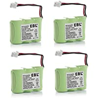 EBL 4 Packs 3.6V Ni-CD 600mAh Cordless phone batteries Vtech BT27333 BT17333 CS5111 CS5111-2 CS5121 CS5121-2 CS5121-3 CS5211 Radio Shack 23-956 23-9069 At&t 01839 El41108