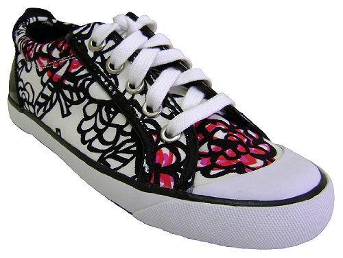 Amazon.com | Coach Barrett Poppy Floral Graffiti Shoes Size 8 | Fashion  Sneakers