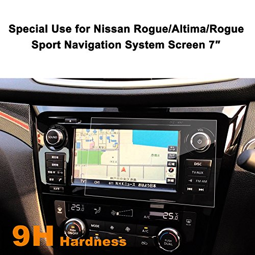 Nissan Rogue/Altima/Rogue Sport 7-Inch Car Navigation Screen Protector,LFOTPP [9H Hardness] (7