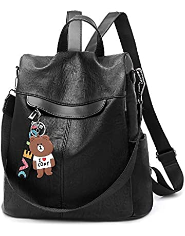 bb5e2d29f1 Women Backpack Purse Waterproof PU Leather Anti-theft Lightweight Shoulder  Bag