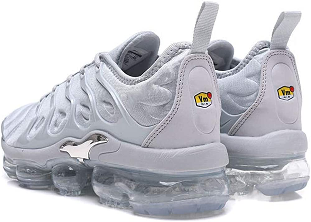 Herren Damen Laufschuhe Plus TN Fitnessschuhe Gymnastikschuhe Sneakers Fashion Turnschuhe Silber Grau