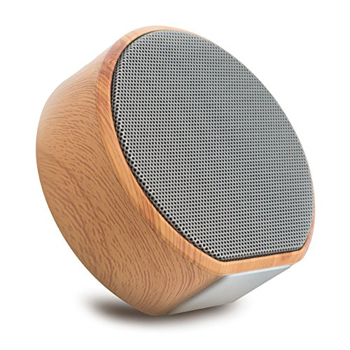 HaloVa Bluetooth Speaker, Portable Wooden Wireless Speaker With Handsfree Call, AUX Line, TF Card Punction, HD Sound and Enhanced Bass, for iPhone iPad Android Smartphone and More, Gray