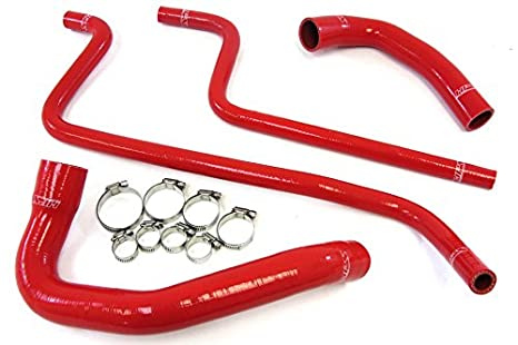 HPS 57-1292-RED Red Silicone Radiator Coolant/Heater Hose Kit