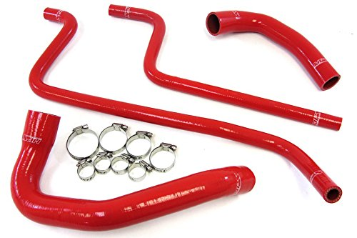 Red Silicone Radiator Hose - HPS 57-1292-RED Red Silicone Radiator Coolant/Heater Hose Kit