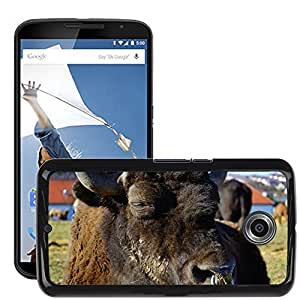 Hot Style Cell Phone PC Hard Case Cover // M00112801 Wisent European Bison Bison // LG Google Nexus 6