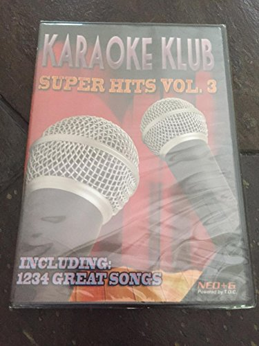 Karaoke Klub NEO+G Disc Over 1200 Super Hits Volume 3 ** WILL ONLY PLAY ON RSQ NEO+G (Neo Karaoke Disc)