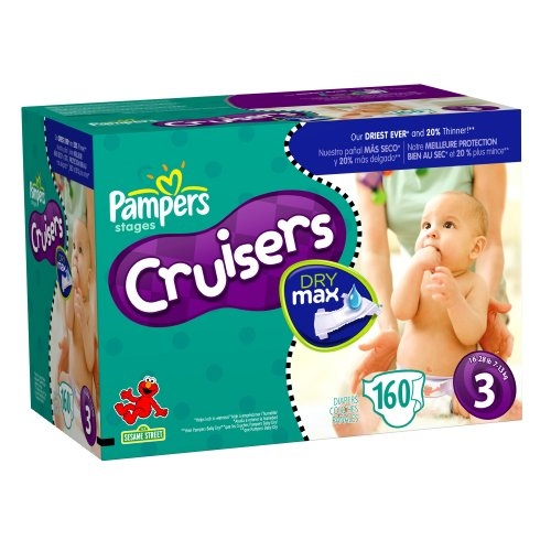 Pampers Cruisers Dry Max Diapers, Size 3, 160 Count ()