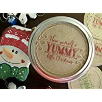 Canning Jar Lid Labels, Yummy Christmas, Jar Labels, Jar Stickers, Mason Jar Lid Inserts, Holiday Jar Food Gifts, Canning Jar Tags
