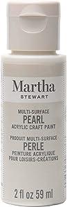 Martha Stewart Crafts Multi-Surface Craft Mother of Pearl, 2 oz Paint, 2 Fl Oz