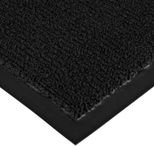 Notrax 141 Ovation Entrance Mat, for Main Entranceways and Heavy Traffic Areas, 4 Width x 6 Length x 5/16 Thickness, Black