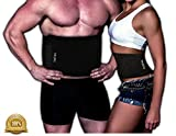Waist Trimmer Ab Belt For Men and Women, Weight Loss, Melt Cellulite, Trim and Shape Waist, Extra Wide, Burn Belly Fat, Back Support, Melt Fat, Ab Compression, FREE E-book, 100%