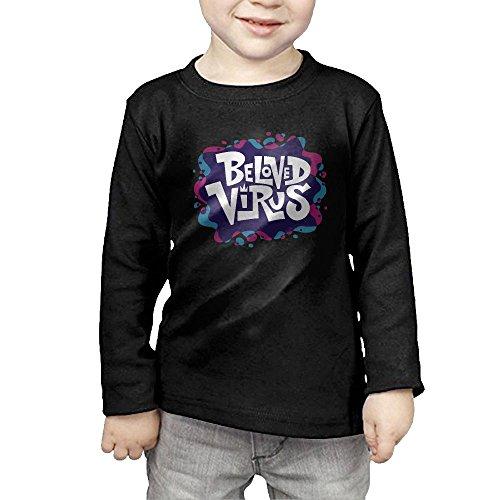 U&MFashions Beloved Virus Kid Cotton Tee Sports Long-Sleeved Sportwear (T Virus Necklace)