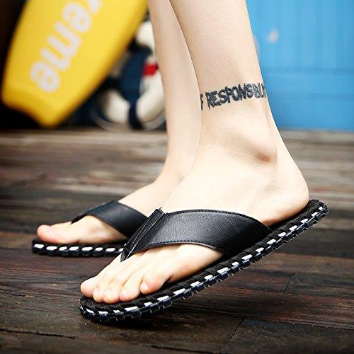 Xing Lin Sandalias De Hombre Los Hombres De Verano Flip Flop Sandalias De Hombres Inglaterra Playa Antideslizante Shoes Zapatillas Zapatos Sandalias Casuales Y Zapatillas Hombres black