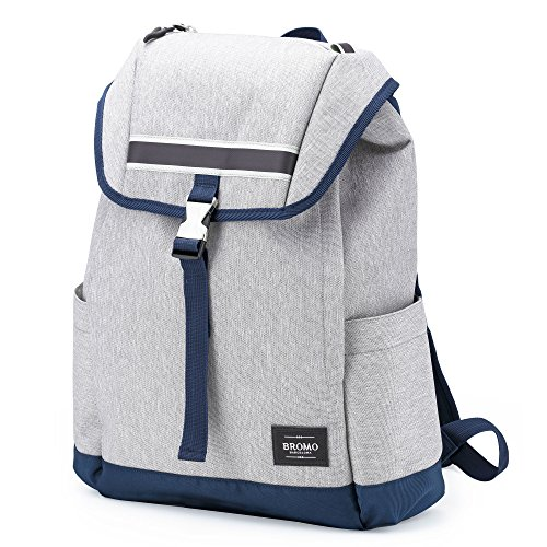 15'' Laptop Backpack - BROMO BARCELONA NEO BARNA 12 13 15 inch Macbook, Laptop iPad Tablet Padded Pocket   Laptop Bag for Women Men Unisex   Water Resistant, Lightweight Canvas, Flip Cover, Side Access by Bromo Barcelona