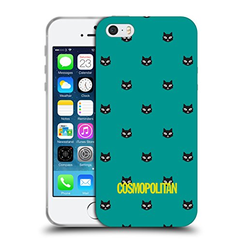 Official Cosmopolitan Teal Lovey The Cat Soft Gel Case for Apple iPhone 5 / 5s / SE