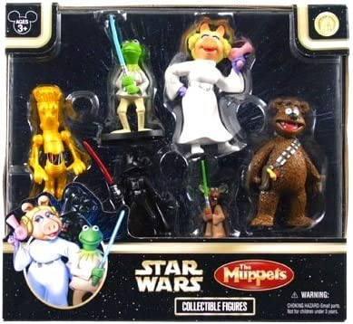 THE MUPPETS COLLECTIBLE FIGURES DISNEY PARKS KERMIT MISS PIGGY 6 CHARACTERS NEW
