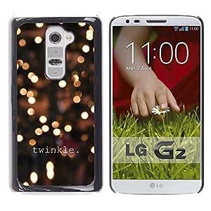 Pulsar Snap-on Series Teléfono Carcasa Funda Case Caso para LG G2 , Winter Lights Nuit Jaune