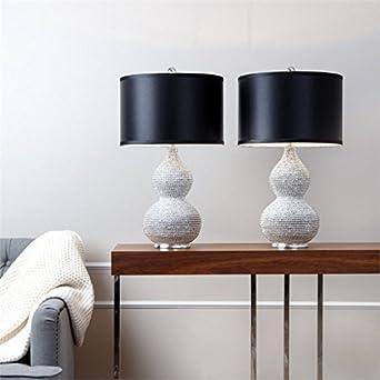 Abbyson Living Sayer Sea Urchin Table Lamp in Silver (Set of 2 ...