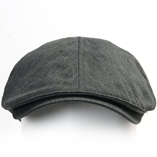 ililily Cotton Flat Cap Cabbie Hat Gatsby Ivy Cap Irish Hunting Hat Newsboy 41c675a125d9