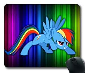 Cartoon Rainbow Dash My Little Pony Fridenship Is Magic 021 Rectangle Mouse Pad by eeMuse