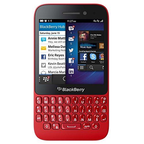 BlackBerry Q5 SQR100-2 8GB Unlocked GSM 4G LTE Dual-Core OS 10.2 Phone - Red