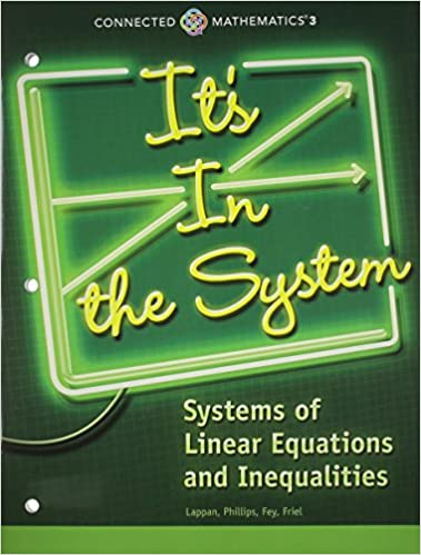 Amazon connected mathematics 3 student edition grade 8 its in connected mathematics 3 student edition grade 8 its in the system systems of linear equations and inequalities copyright 2014 by prentice hall fandeluxe Image collections